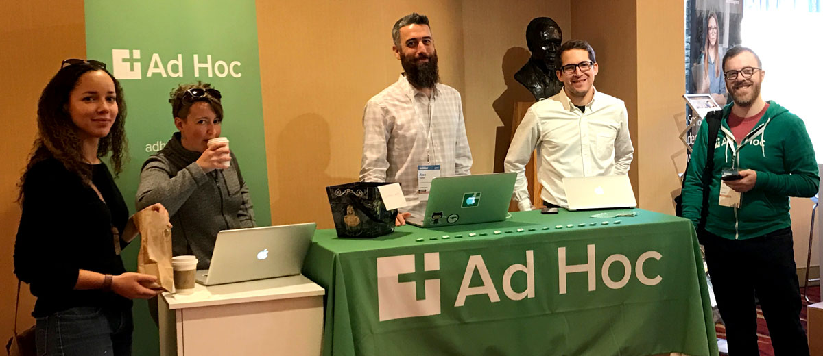 Ad Hoc Team members at our booth