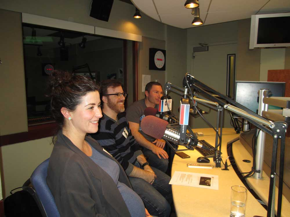 Emily Tavoulareas, Greg Gershman and Black Hall on the air
