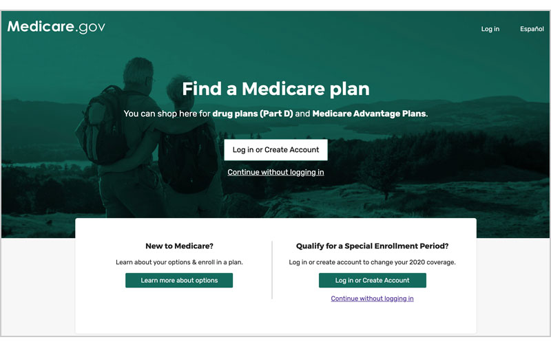 Screenshot of the redesigned Medicare Plan Finder homepage.