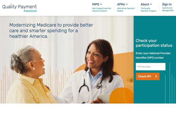 Photo of The launch of the Quality Payment Program website