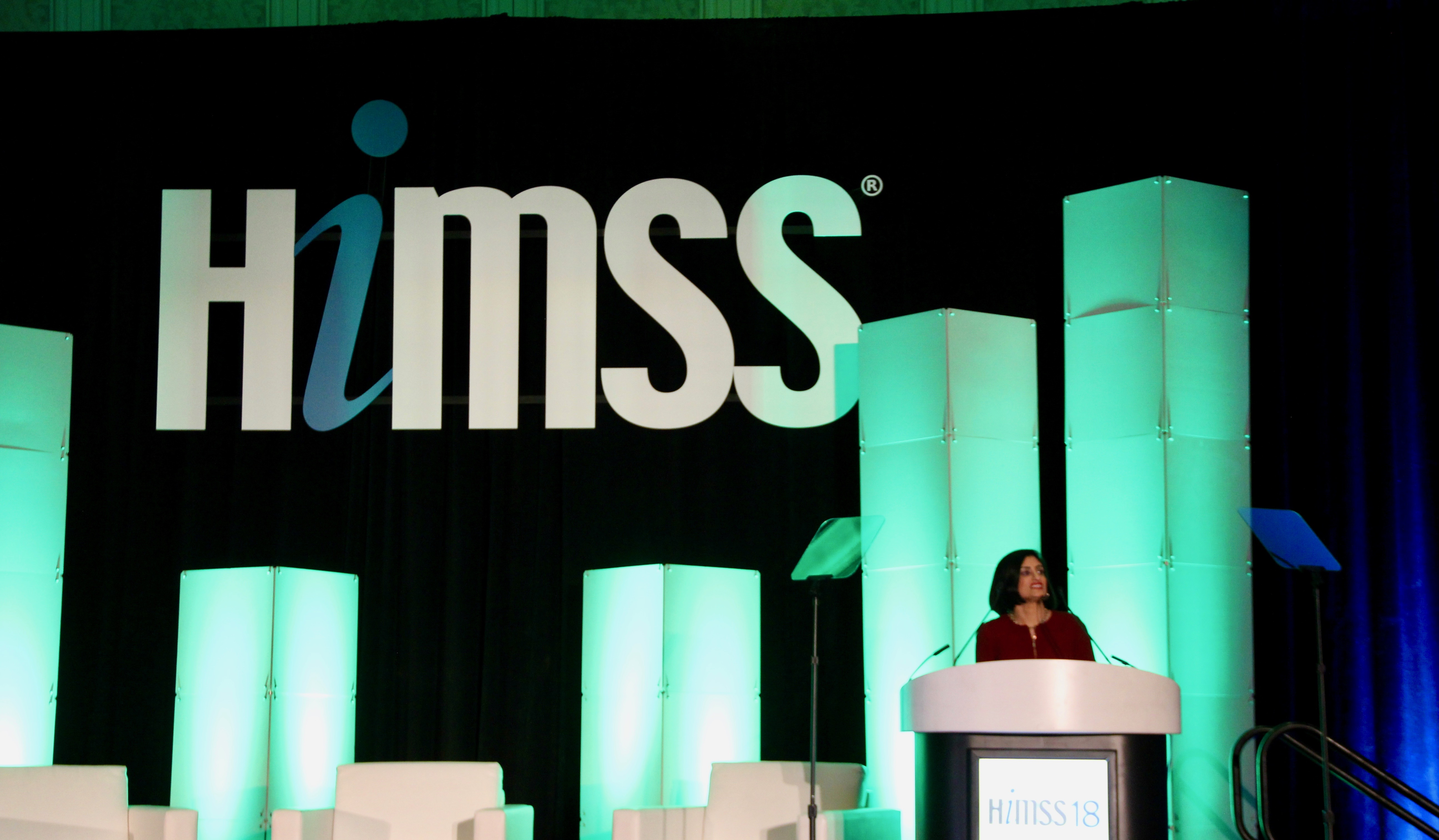 CMS Administrator Seema Verma speaking at HIMSS18